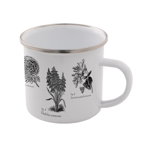 Flowers Enamel Mug – White