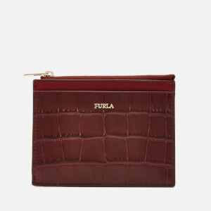 Furla Women's Babylon Small Zip Card Case - Red