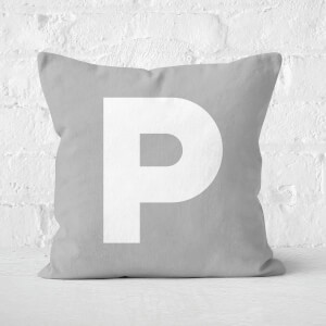 Letter P Square Cushion