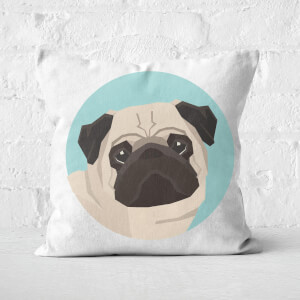 Pug Square Cushion