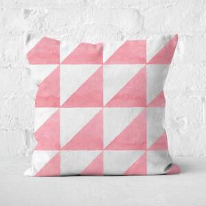 Aztec Triangles Square Cushion