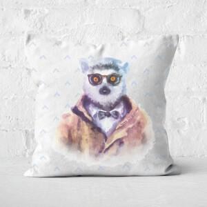 Hipster Lemur Square Cushion