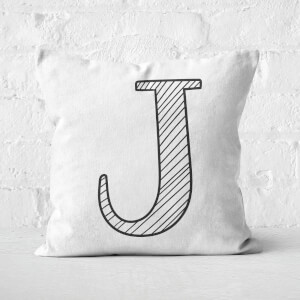 Handwritten J Square Cushion