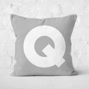 Letter Q Square Cushion