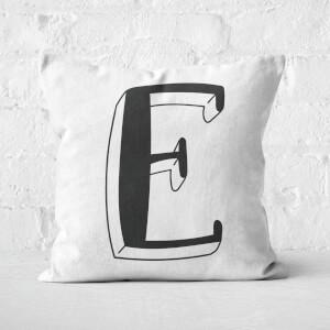 Handwritten E Square Cushion