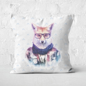 Hipster Fox Square Cushion
