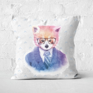 Hipster Red Panda Square Cushion