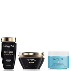 Kérastase Chronologiste Revitalising Shampoo, Masque and Energising Scrub Trio
