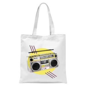 BoomBox Tote Bag - White
