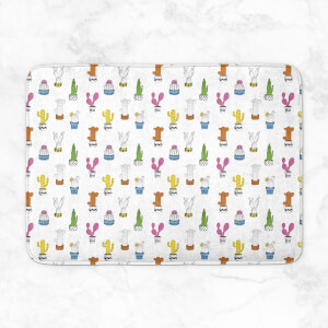 Multi Cactus Pattern Bath Mat