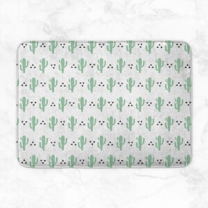 Green Cactus Pattern Bath Mat