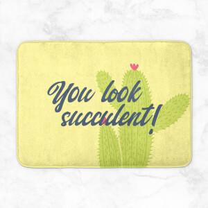 You Look Succulent! Bath Mat