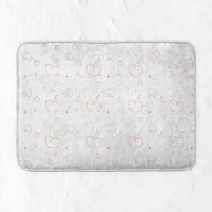 Peach Print Bath Mat