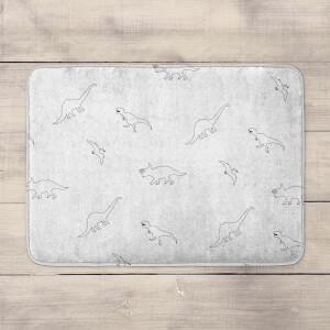 Dino Pattern Bath Mat
