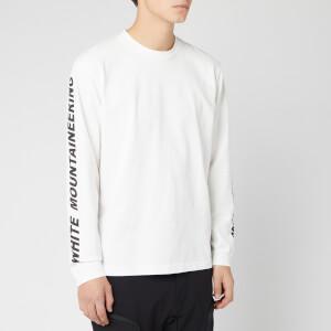 White Mountaineering Men's Logo Printed Long Sleeve T-Shirt - White