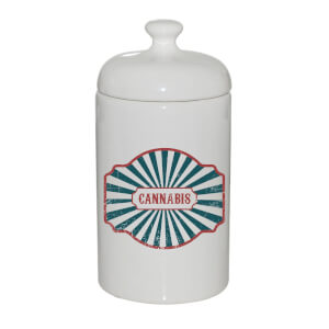Cannabis Ceramic Jar