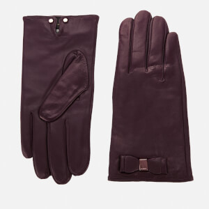 Ted Baker Women's Bblake Bow Gloves - Oxblood