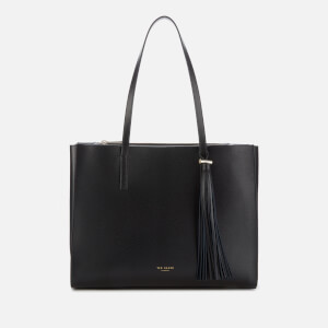 Ted Baker Women's Narissa Leather Tassel Detal Large Tote Bag - Black