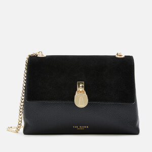Ted Baker Women's Helena Suede Padlock Cross Body Bag - Black