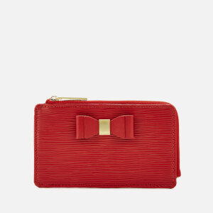 Ted Baker Women's Blue Bow Detail Card Holder - Red