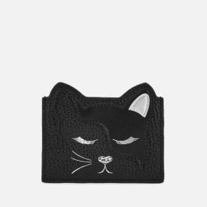 Ted Baker Women's Ellsi Applique Cat Card Holder - Black