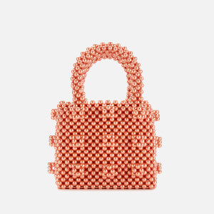 Shrimps Women's Mini Antonia Pearl Handbag - Vermillion Orange
