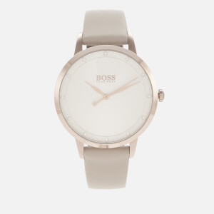 BOSS Hugo Boss Women's Twilight Leather Strap Watch - Rouge/SWH