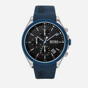 BOSS Hugo Boss Men's Velocity Leather Strap Watch - Rouge Black Blue