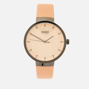 HUGO Women's Go Leather Strap Watch - Rou Cargo