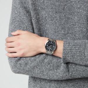 HUGO Men's Create Metal Strap Watch - Rou Black