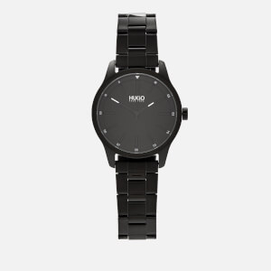 HUGO Men's Dare Metal Strap Watch - Rou Black