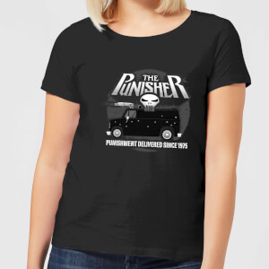 Marvel The Punisher Battle Van Women's T-Shirt - Black