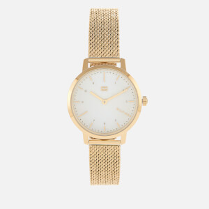 Tommy Hilfiger Women's Lily Mesh Strap Watch - Rou White
