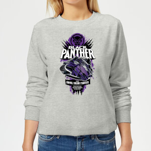 Marvel Black Panther The Royal Talon Fighter Badge Women's Sweatshirt - Grey