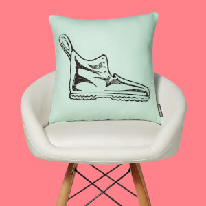 Monopoly Boot Letterpress Square Cushion