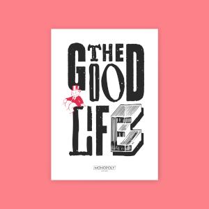 Monopoly The Good Life Art Print