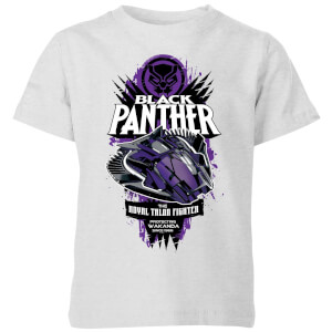 Marvel Black Panther The Royal Talon Fighter Badge Kids' T-Shirt - Grey