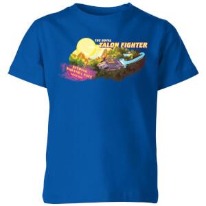 T-Shirt Marvel Black Panther The Royal Talon Fighter Wakanda - Royal Blue - Bambini