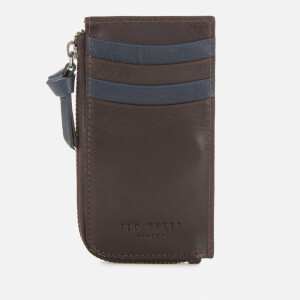 Ted Baker Men's Bombay Leather Zip Up Cardholder - Xchocolate