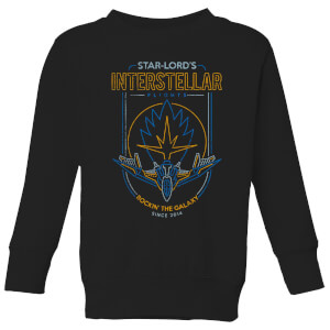 Marvel Guardians Of The Galaxy Interstellar Flights Kids' Sweatshirt - Black