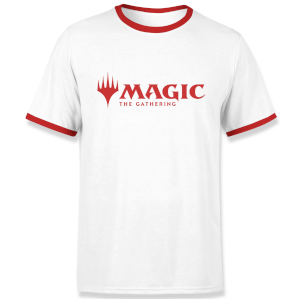 Magic The Gathering Logo Men's Ringer - White/Red