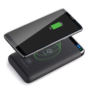 Mixx PowerLife Qi10 Wireless 10000mAh + Fast Charge 2 Port USB + LED