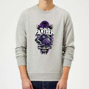 Marvel Black Panther The Royal Talon Fighter Badge Sweatshirt - Grey