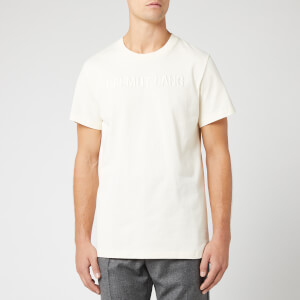 Helmut Lang Men's Raised Embroidery T-Shirt - Pearl
