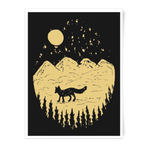 Moonlight Fox Adventure Art Print