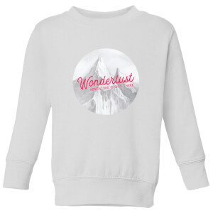 Mountain Wonderlust Adventure Is Out There Kids' Sweatshirt - White