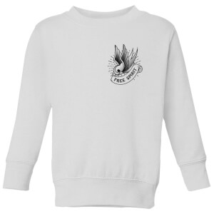 Swallow Free Spirit Pocket Print Kids' Sweatshirt - White