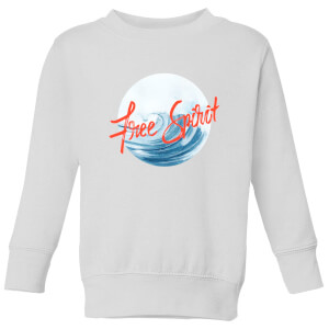 Free Spirit Tidal Wave Kids' Sweatshirt - White