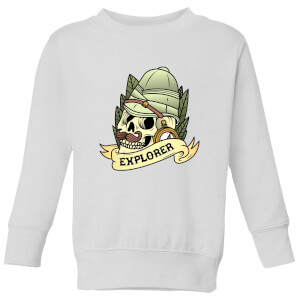Explorer Skull Kids' Sweatshirt - White