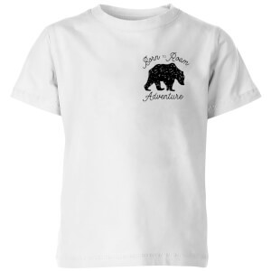 Born To Roam Adventure Pocket Print Kids' T-Shirt - White